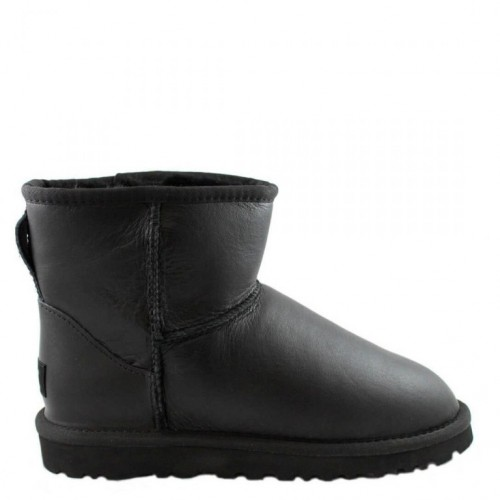 Купить UGG Classic Mini Leather All Black II в Украине