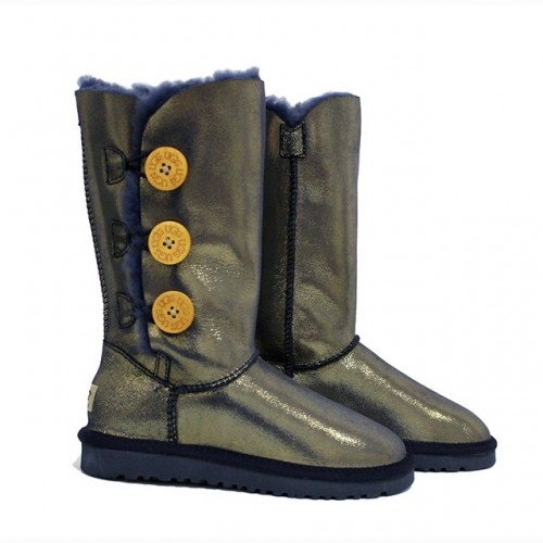 UGG Bailey Button Triplet Leather Gold II