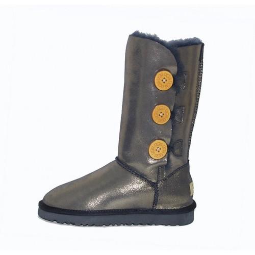 Купить UGG Bailey Button Triplet Leather Gold II в Украине