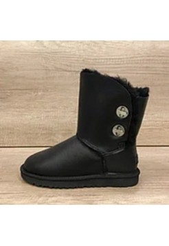 Купить UGG Bailey Button Turnlock Bling Leather Black В Украине