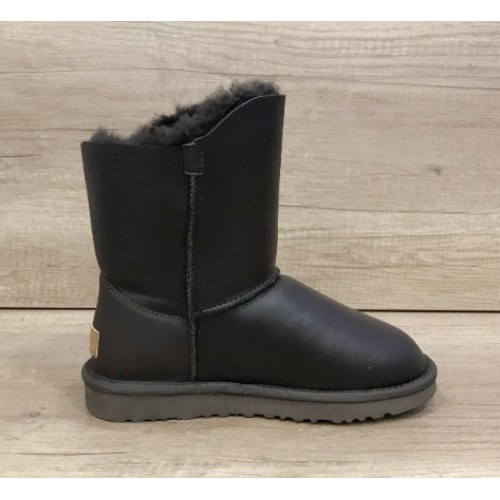 Купить UGG Bailey Button Turnlock Bling Leather Brown в Украине