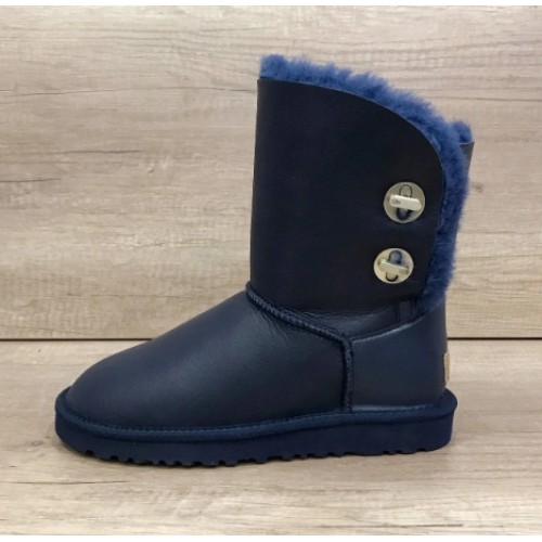 Купить UGG Bailey Button Turnlock Bling Leather Blue в Украине