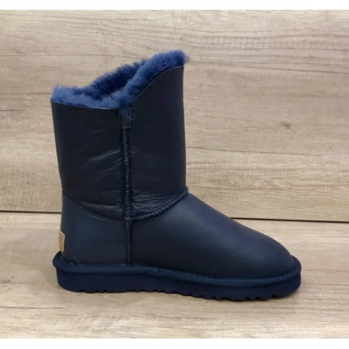 UGG Bailey Button Turnlock Bling Leather Blue
