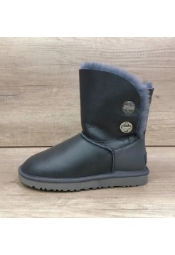 Купить UGG Bailey Button Turnlock Bling Leather Grey В Украине