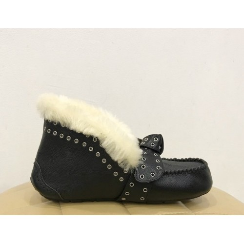 Купить Мокасины UGG Australia Alena Leather Black в Украине