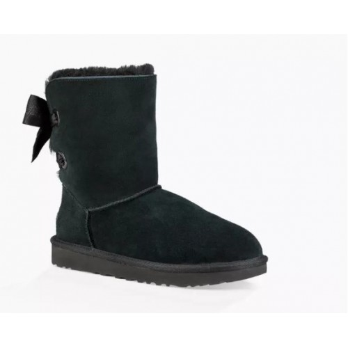 Купить UGG Bailey Bow Customizable Black в Украине
