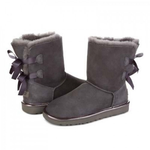 Купить UGG Bailey Bow II Metallic Grey в Украине