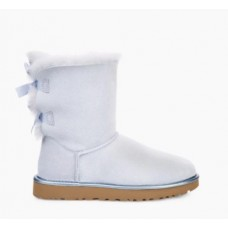 Купить UGG Bailey Bow II Metallic Sky Blue в Украине
