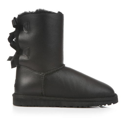 Купить UGG Bailey Bow Leather Black в Украине