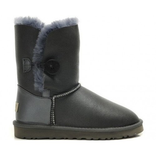 Купить UGG Bailey Button Leather Grey II в Украине