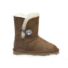 Купить UGG Bailey Button Bling Chesnut в Украине