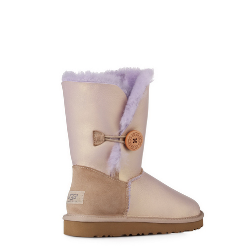 UGG Bailey Button Metallic Amethyst
