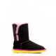 UGG Bailey Button Noir Rose Jaune