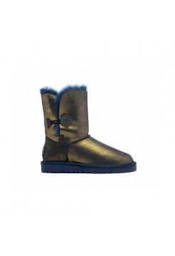 Купить UGG Bailey Button Metallic Blue/Gold В Украине