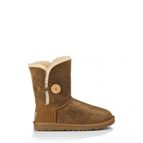 UGG BAILEY BUTTON BOMBER CHESTNUT