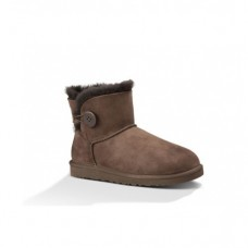 UGG Bailey Button Mini Chocolate