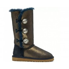 Купить UGG Bailey Button Triplet Bling Navy-Gold II в Украине