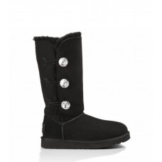 Купить UGG Bailey Button Triplet Bling black II в Украине