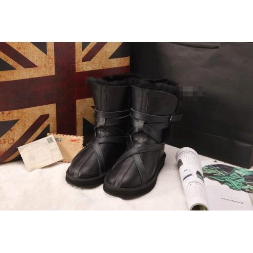 Купить UGG Classic Short Leather black belts в Украине