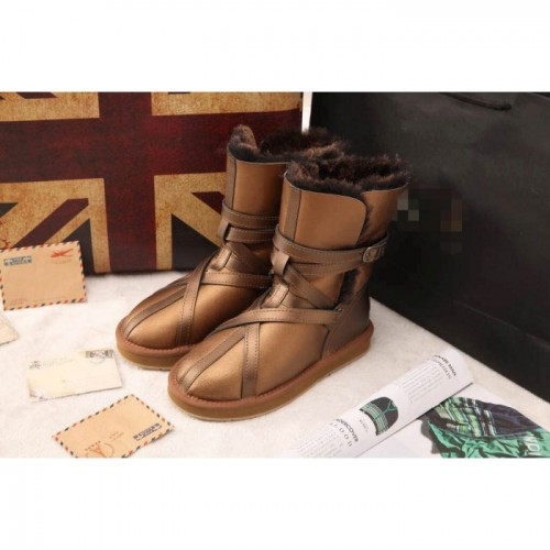 Купить UGG Classic Short Leather bronze belts в Украине