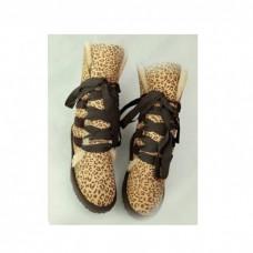 Купить UGG Classic Short на шнуровке  тигровые в Украине