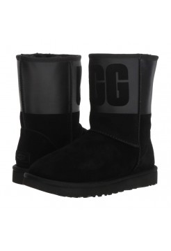 UGG Classic Sparkle Rubber Boot Black
