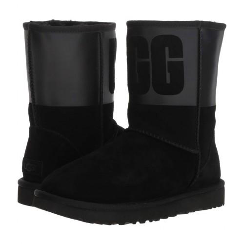 Купить UGG Classic Sparkle Rubber Boot Black в Украине