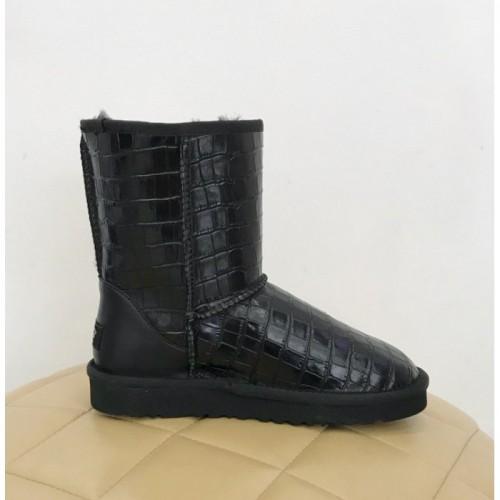 Купить UGG Classic Short Croco Black в Украине
