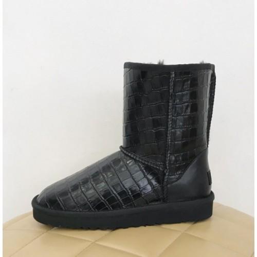 UGG Classic Short Croco Black