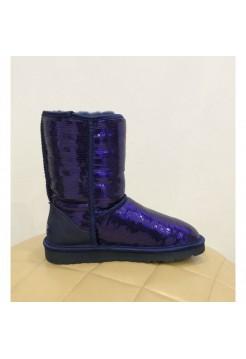Купить UGG Classic Short Sparkles Purple В Украине