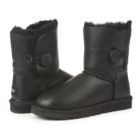 UGG Bailey Button Black Кожа