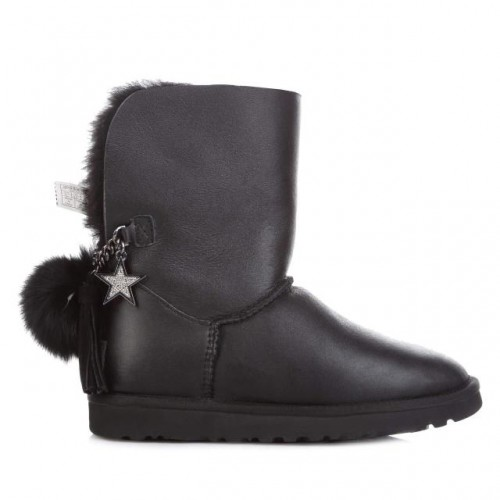 Купить UGG Australia Classic Short Black Star Leather в Украине