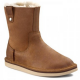 Купить UGG Classic Short Sequoia Leather Chestnut в Украине