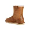 Купить UGG Classic Short Sequoia Leather Chestnut в Украине