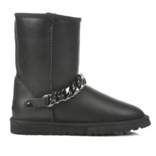 UGG Classic Short Chain Metallic Black