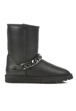 Купить UGG Classic Short Chain Metallic Black В Украине