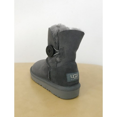 Детские угги UGG Baby Bailey Button Grey