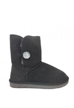 UGG Mid Bailey Button Bling Black