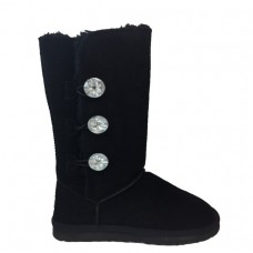 Купить UGG Mid Bailey Button Triplet Bling Black в Украине