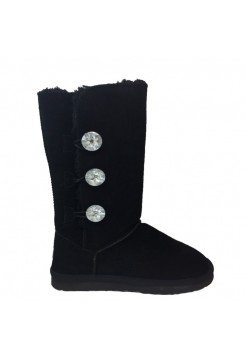 UGG Mid Bailey Button Triplet Bling Black