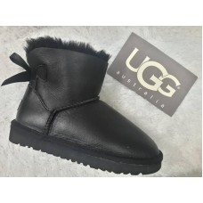 Купить UGG Mini Bailey Bow All Leather Black в Украине