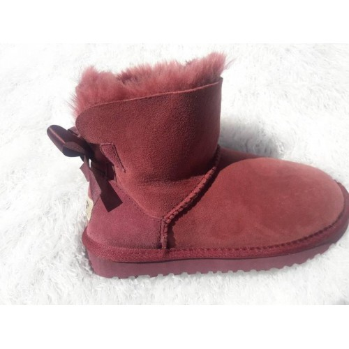 Купить UGG Mini Bailey Bow Бордо в Украине