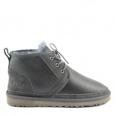 UGG Neumel Leather Metallic Grey