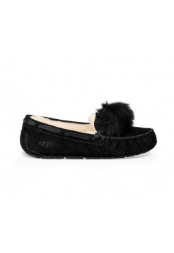 Мокасины UGG Dakota Pom pom Black