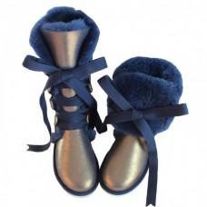 UGG Classic Tall Blue на шнуровке
