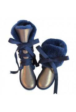 Купить UGG Classic Tall Blue на шнуровке В Украине