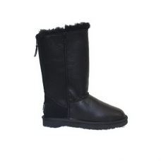 Ugg Classic Tall Zip Tall Leather Black