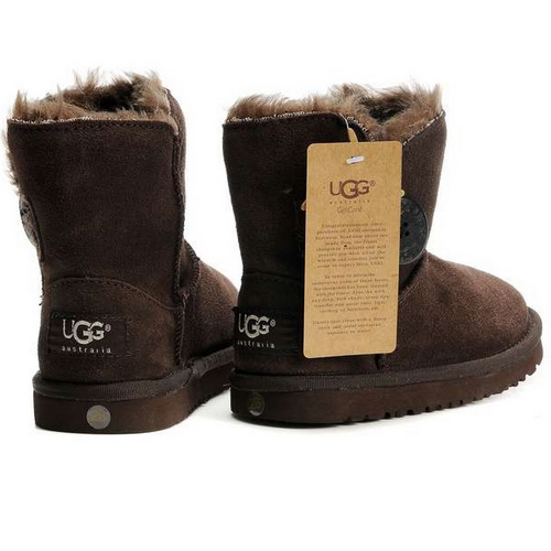 Детские угги UGG Baby Bailey Button Chocolate