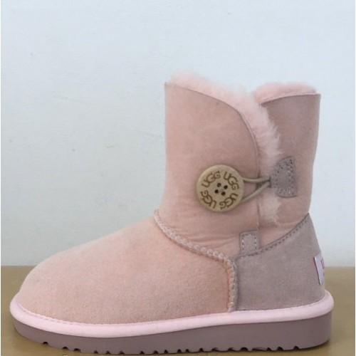 Купить Детские угги UGG Baby Bailey Button Pink в Украине
