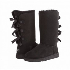 Купить UGG Bailey Bow Tall Black в Украине